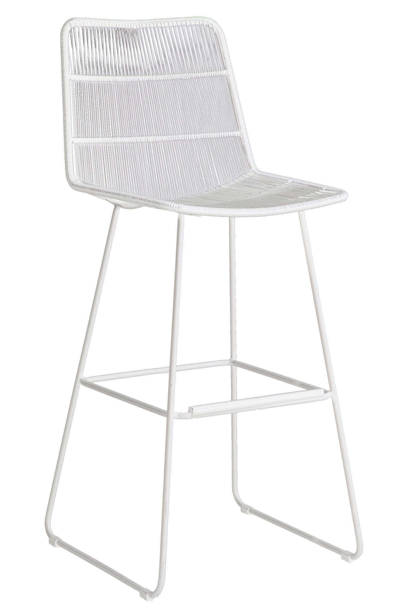 Faye bar chair - white | Maax & Luuk