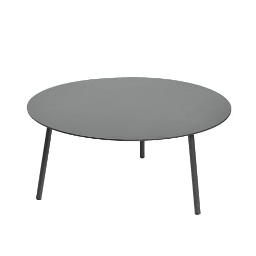 Kick coffee table ⌀80×36 - black | Max & Luuk