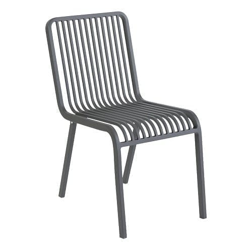 Stripe stacking chair - anthracite | Max & Luuk