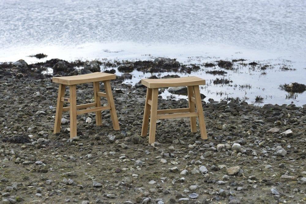 Teak Lindy stools | Max & Luuk