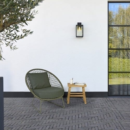 Nora lounge chair - moss and Lindy stool | Max & Luuk