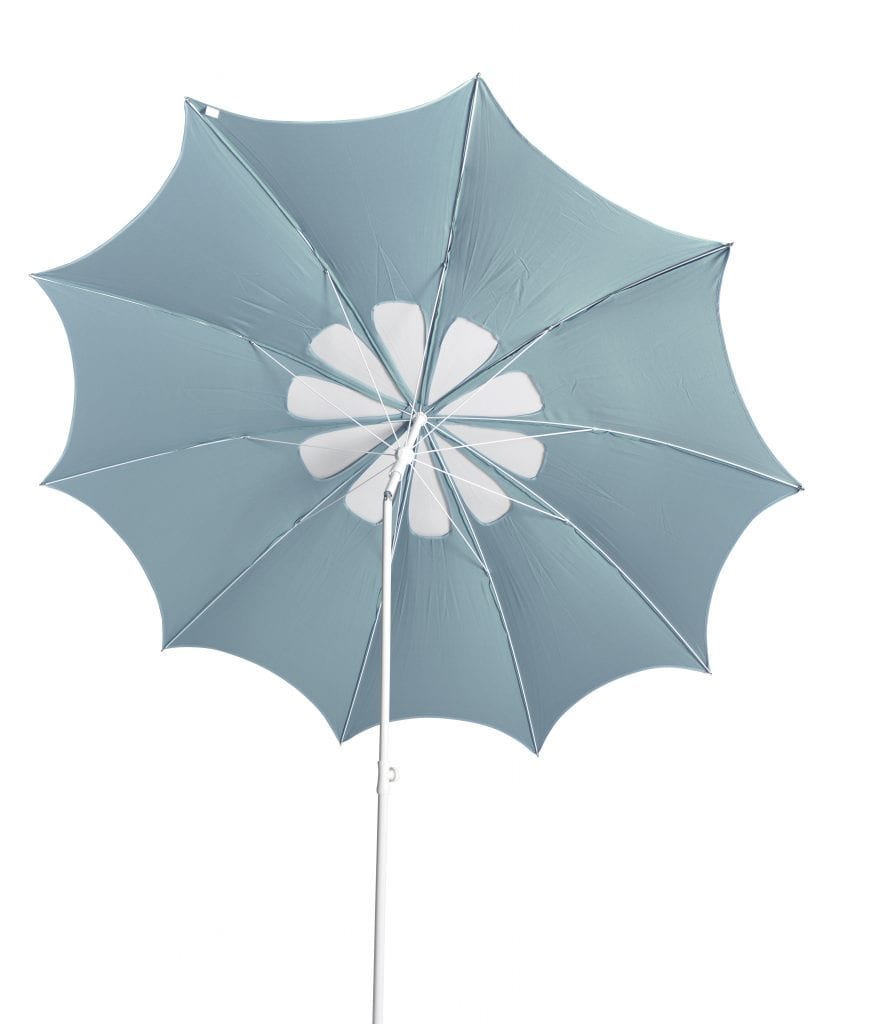 Flora parasol - aqua de mer white | Max & Luuk