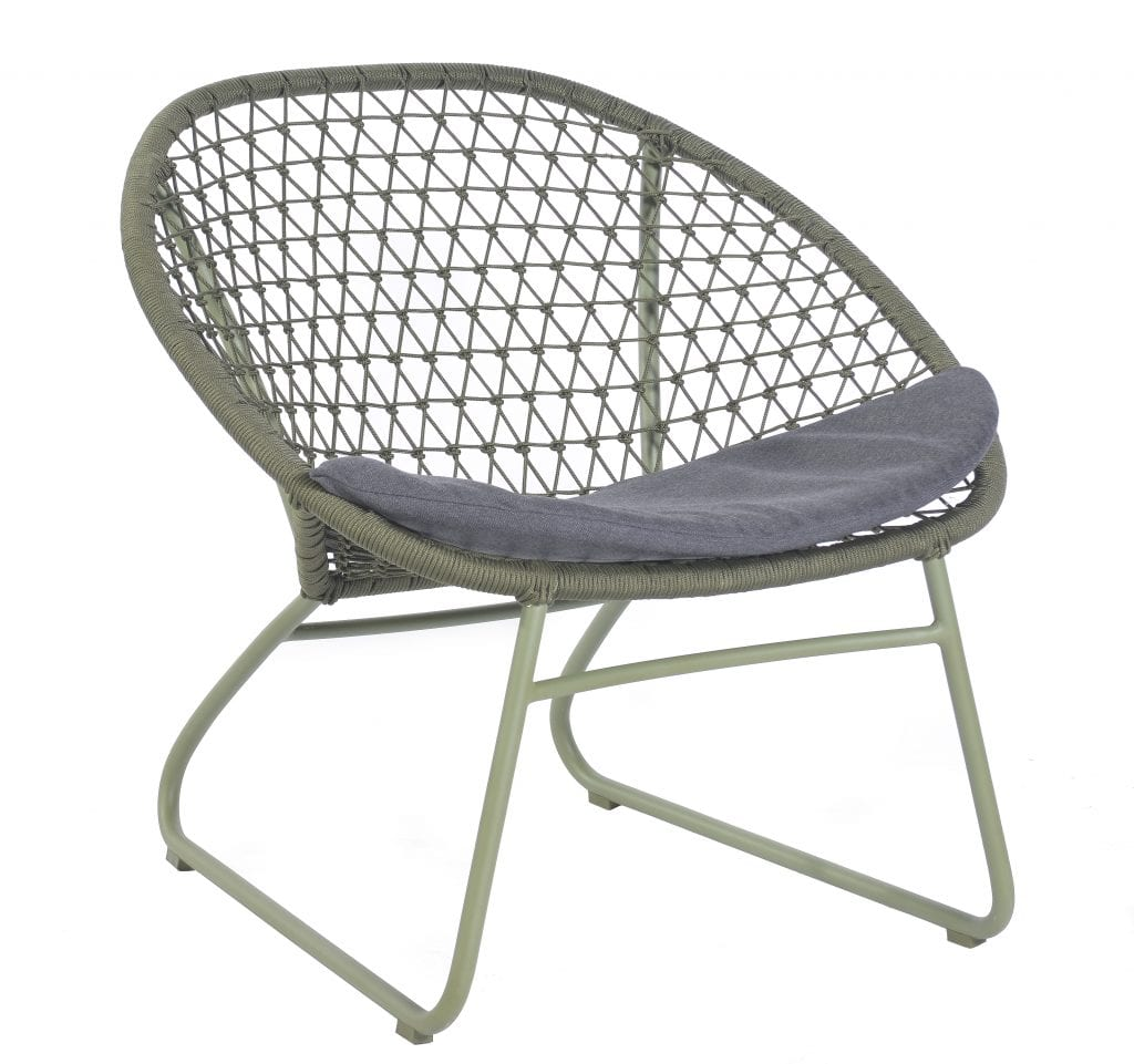Bella occasional chair with cushion - moss   Max & Luuk