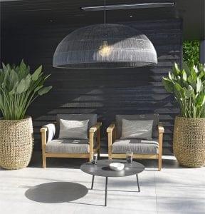 Duke lounge chairs and Tim lampshade | Max & Luuk